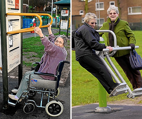 Playtime for Grandma: Council opens new playground for the over-60s | the ...